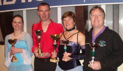 Lorna, Steve Wood, Carol and Steve Taverner