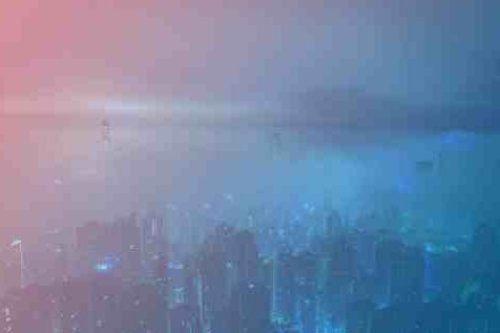 Zum Artikel Edge Computing Fog Computing: Nebel in Großstadt, Hochhäuser