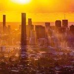 Hazy days: Brisbane CBD from Mount Coot-tha