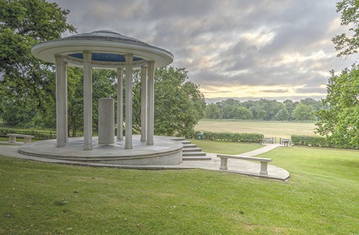 The American Bar Association built the Magna Carta memorial in Runnymede in 1957 to commemorate the Great Charter as a symbol of freedom under law. Photo: Antony McCallum