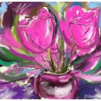 Three Works Painted on My iPad