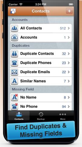 Cleaner, limpiar tu libreta de direcciones de contactos duplicados