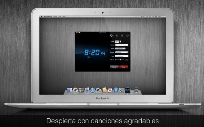 Utiliza tu Mac como un reloj despertador