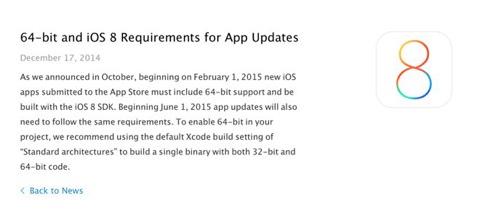 Las actualizaciones de aplicaciones tendrán que funcionar sobre 64 bits desde junio de 2015