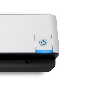 El Doxie GO Wi-Fi utiliza un único botón