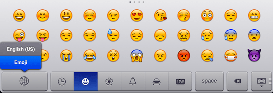 emoji iPad keyboard