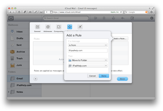 how to add mail account to icloud