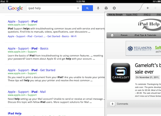 how to get google search on ipad
