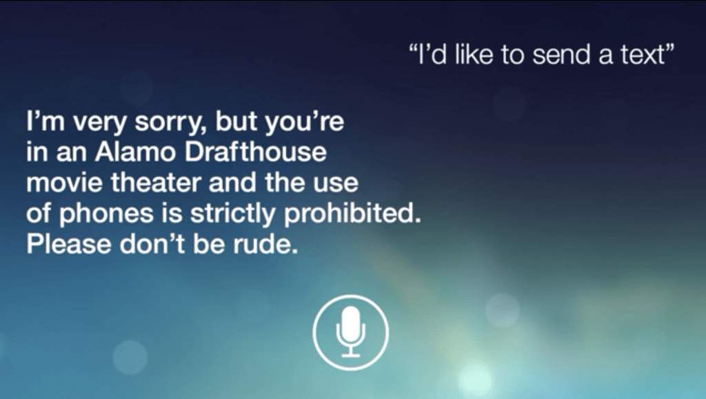 Alamo Drafthouse Uses Siri to Prevent Talking and Texting