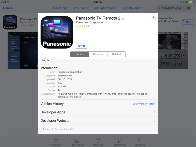 I Want To Connect My iPad To Panasonic Smart TV  How  Panasonic Smart TV Remote 2 connects your Smart TV and the iPad
