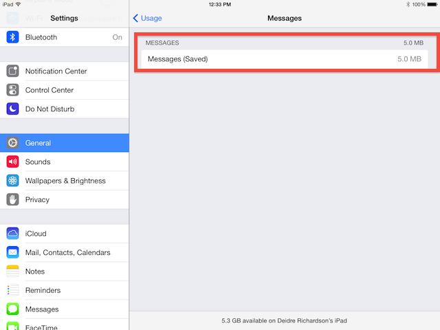 saved iMessages data after deletion