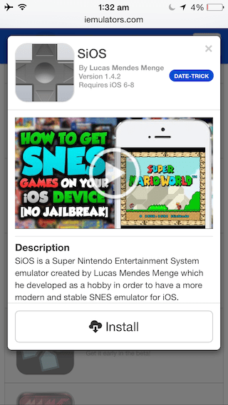 How to Install SNES Emulator on Your iPhone or iPad without