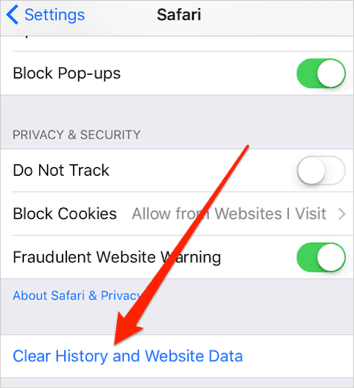 how to clear safari history on iphone safari on ios 10 here s the fix 19924