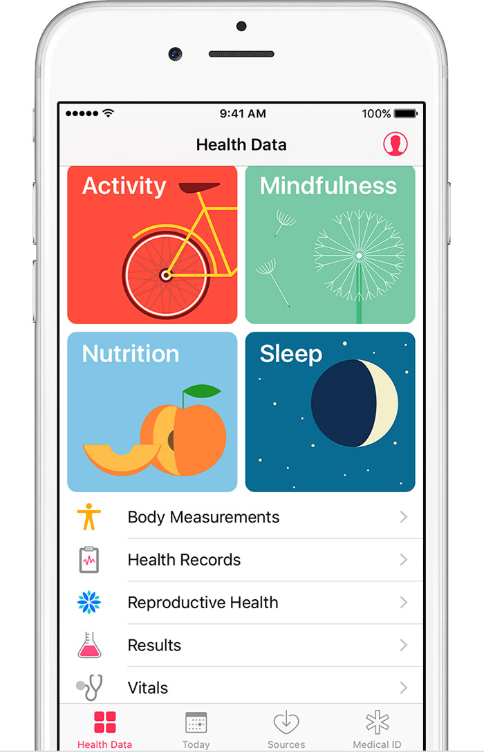 step 2 tap health data and select a category like body measurements