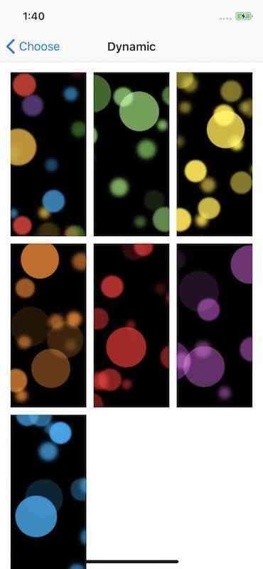 iPhone Xの動く壁紙(ダイナミック・ウォールペーパー)は7種類!