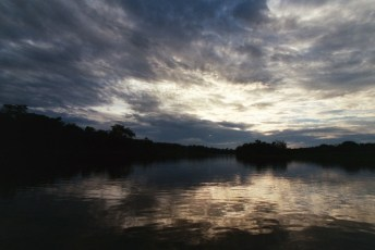 Sunset on the Amazon