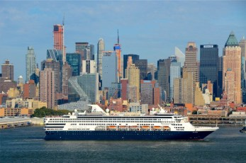 Cruise Ship Leaves NY Harbor