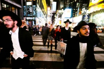 Hasidic Jews in Times Square, NYC
