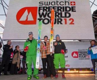 Men's ski podium