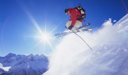 """Man Skiing Off Mountain"" from Bigstock Photo.com"