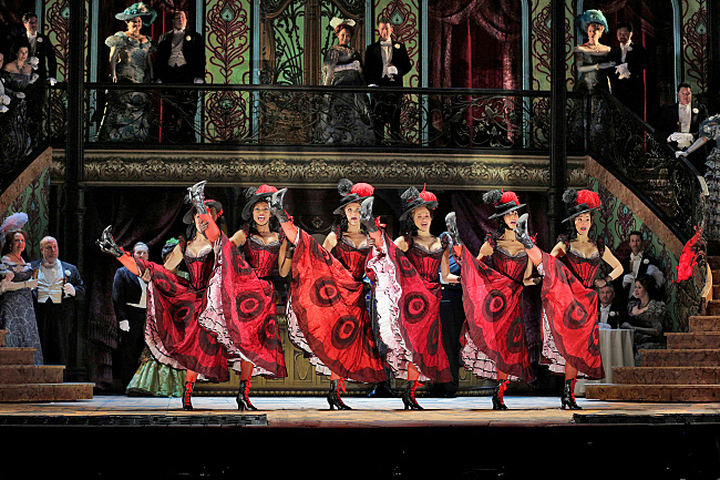 CanCan Dancers, Maxim's, Paris, in MET's Production, The Merry Widow, 2014-15
