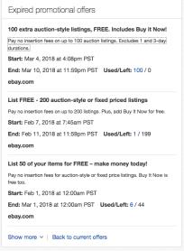 eBay FREE Listings