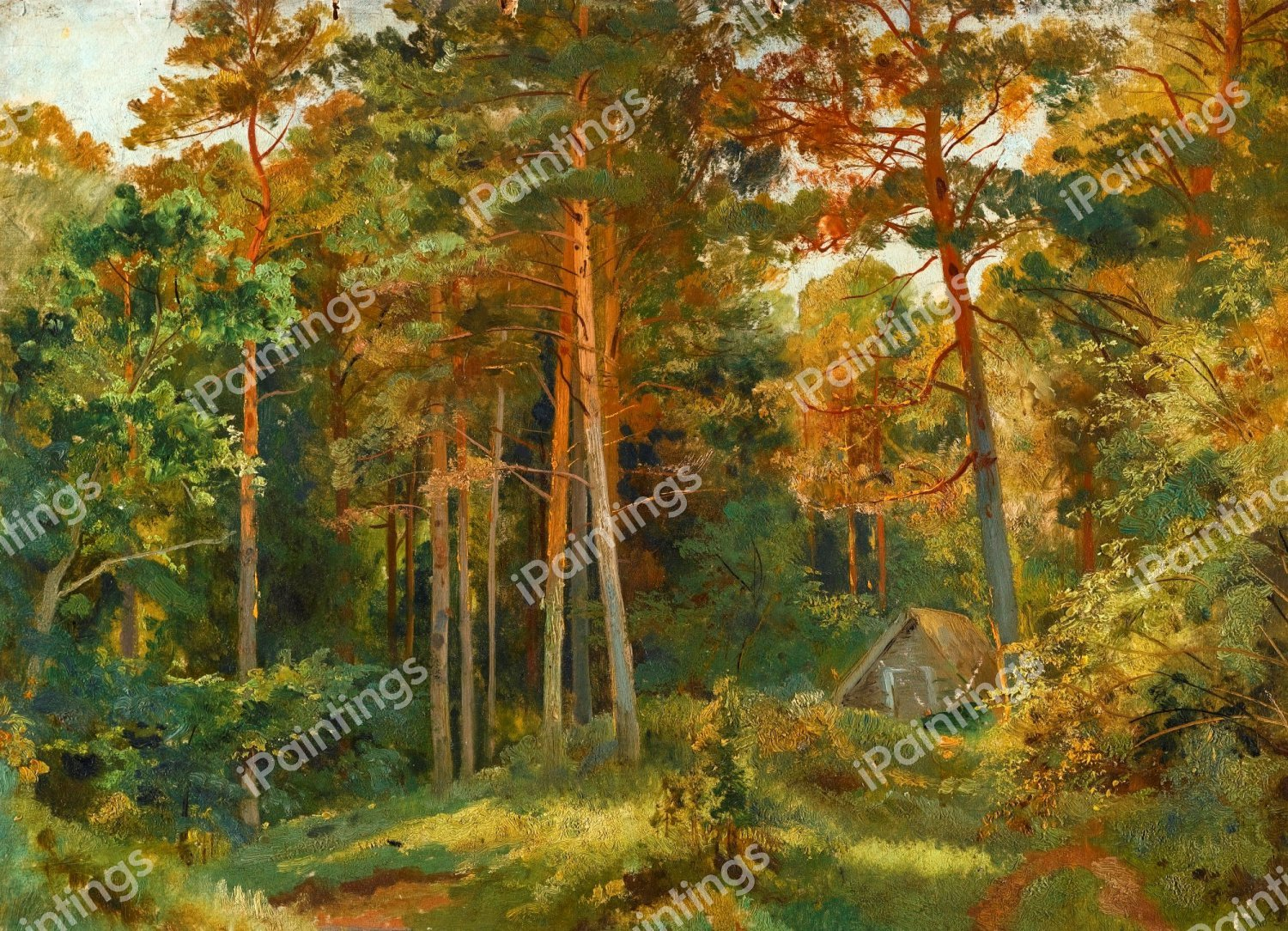 And american beech (fagus grandifolia ehrh.) across a northern hardwood forest landscape to quantify their masting patterns and explore the. The Mill In The Forest Painting By Ivan Ivanovich Shishkin Reproduction Ipaintings Com