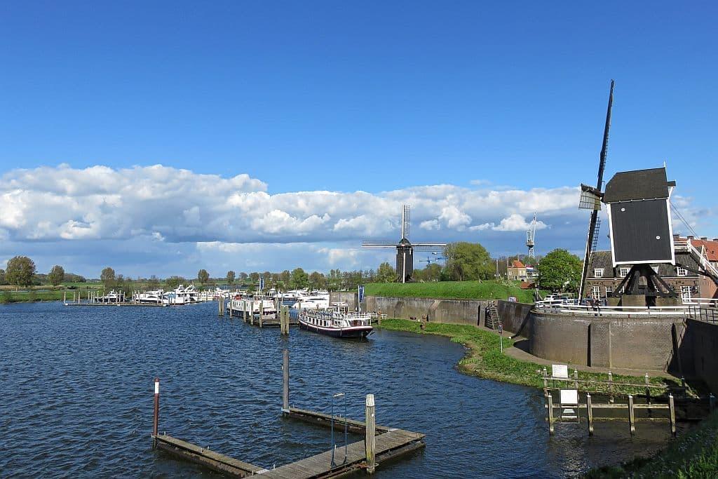 Heusden, the Netherlands, North-Brabant, Dutch windmills, Meuse, Maas