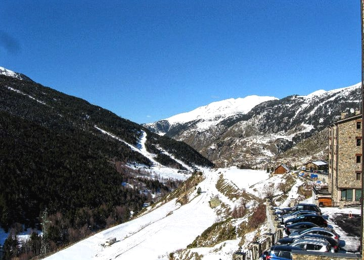 View from Hotel Naudi to the Slopes - Andorra