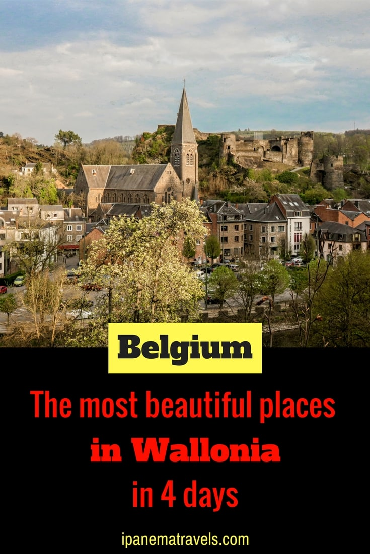 Discover the most beautiful places and castles in Wallonia (Belgium) in a 4-day itinerary. Find information about attractions and things to do in Dinant, Durbuy, Annevoie, Bouillon, La Roche-en-Ardenne and Rochefort. #Belgium #Wallonia #Belgiumtravel #Dinant #Durbuy #Annevoie #Rochefort #Bouillon