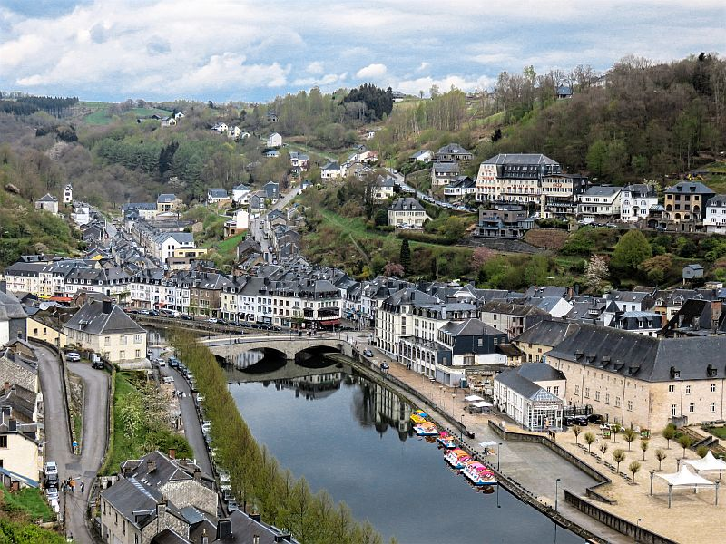 View from the castle in Bouillon, Belgium - Wallonia