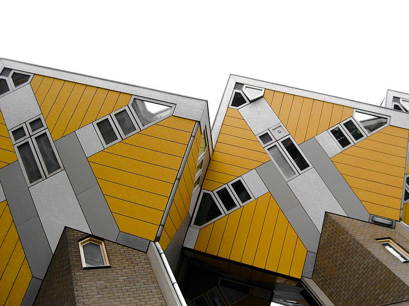 cube houses, Rotterdam, the Netherlands, modern architecture
