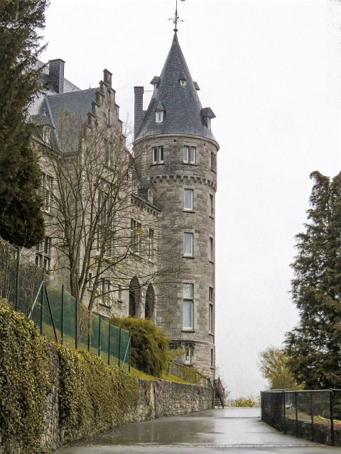 The castle in Rochefort, Belgium - Wallonia