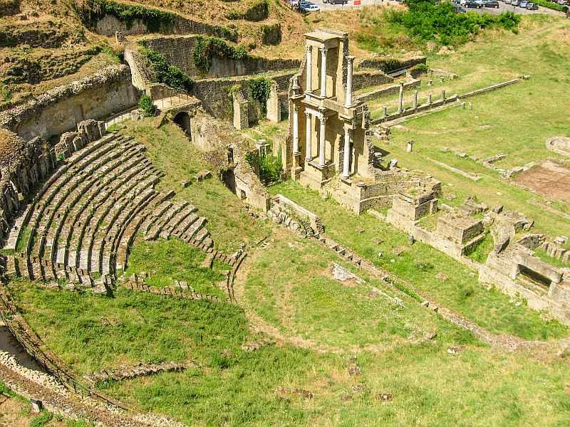Roman theatre, Volterra, Tuscany, Italy