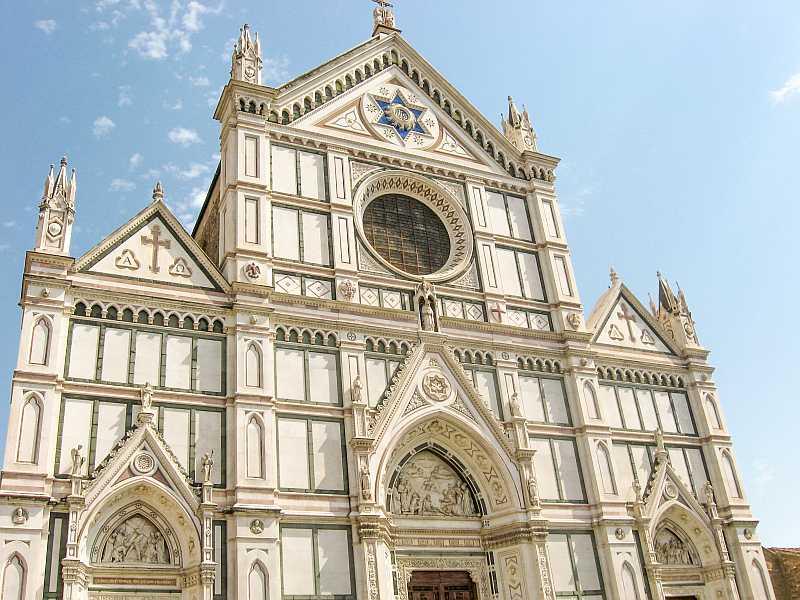 Facade of Santa Croce in Florence