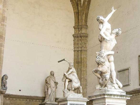The Rape of the Sabine Women of Giambologna