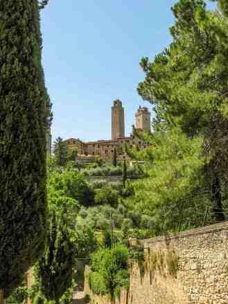 View from Fonti Medievali - San Gimignano