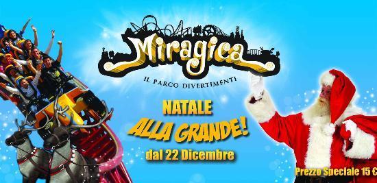 Natale, Capodanno ed Epifania nel parco divertimenti Miragica in Puglia