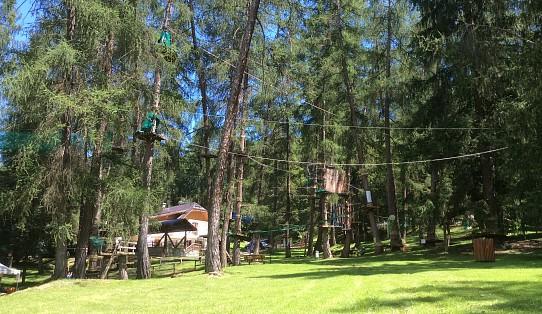 I parchi avventura sono i parchi piu diffusi nel Trentino Alto Adige