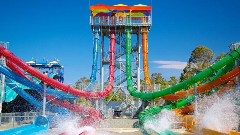 Il parco acquatico Wet N Wild nella Gold Coast in Australia