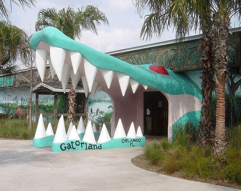 Ingresso del parco Gatorland ad Orlando in Florida