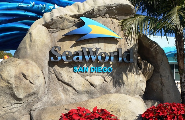 L'ingresso del SeaWorld San Diego in California