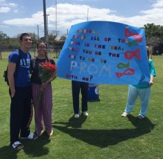 """""""After 14 years at AHS I have always been looking up to senior year and waiting for the festivities that come with it. I can't believe I am finally that senior people dream to be and I can't wait to spend prom night with one of my best friends!"""""""