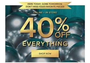 Torrid 40% off sale