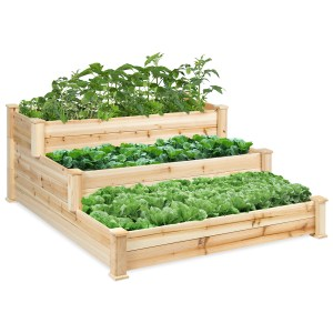 3-Tier Wooden Raised Bed Planter Kit $84.99 At Walmart!
