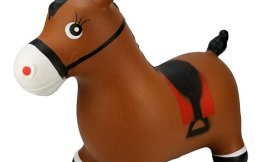 Brown Inflatable Bouncing Horse $16.99!