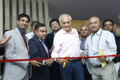 Shri H. S. Vyas, Past President and father figure of IPCA inaugurating the stall