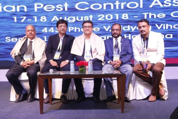 Ujjwal Kumar (UPL Ltd.), Jaldhi Trivedi (President- IPCA), Dr. Arunkumar (Bayer CropScience), Uday Menon (Vice President - IPCA), Prakash Sasidharan (Secretary - IPCA)