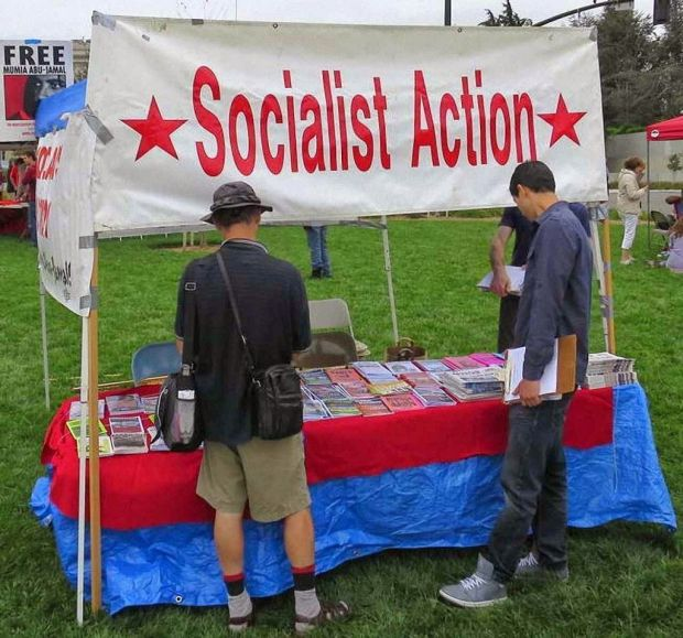 Militantismo socialista ostensivo na People's Climate Rally, Oakland, California