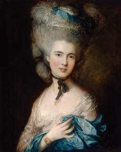Dama Azul – Thomas Gainsborough  (1727–1788). Hermitage Museum, São Petersburgo, Rússia.